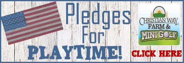 Christian Way Farm Pledges for Playtime