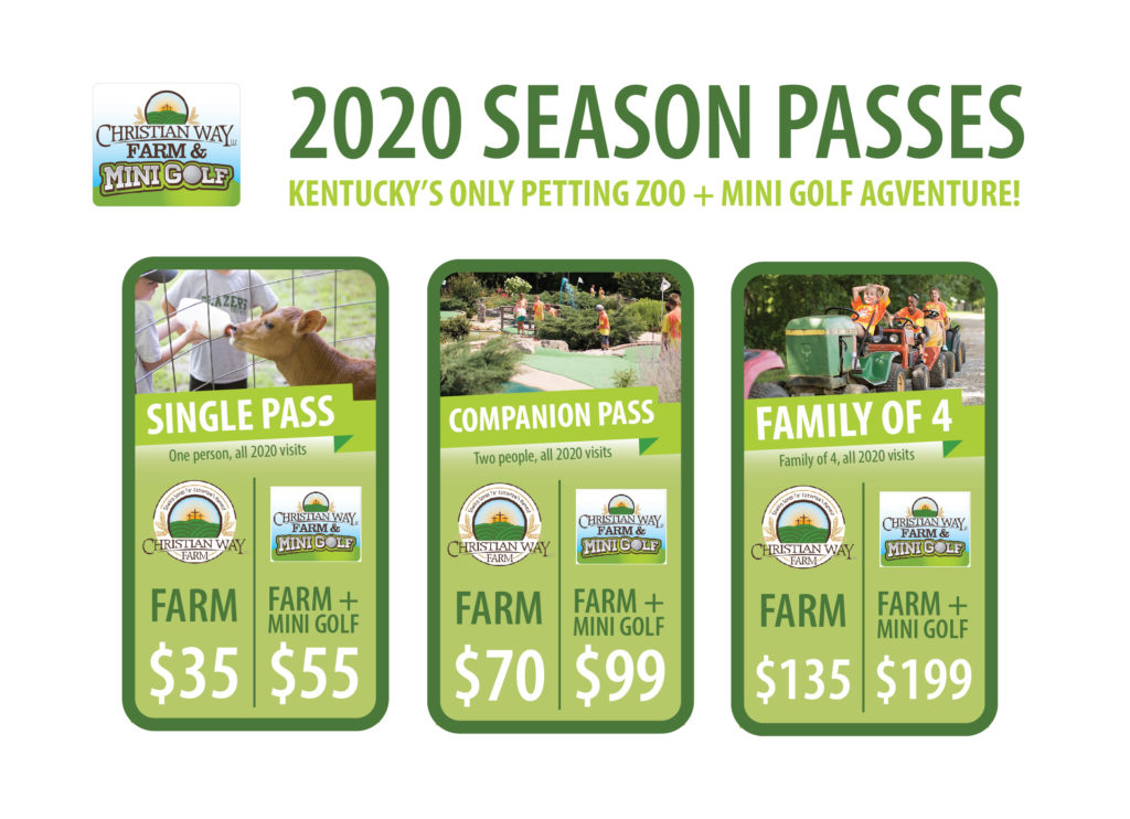 Christian Way Farm 2020 Season Pass