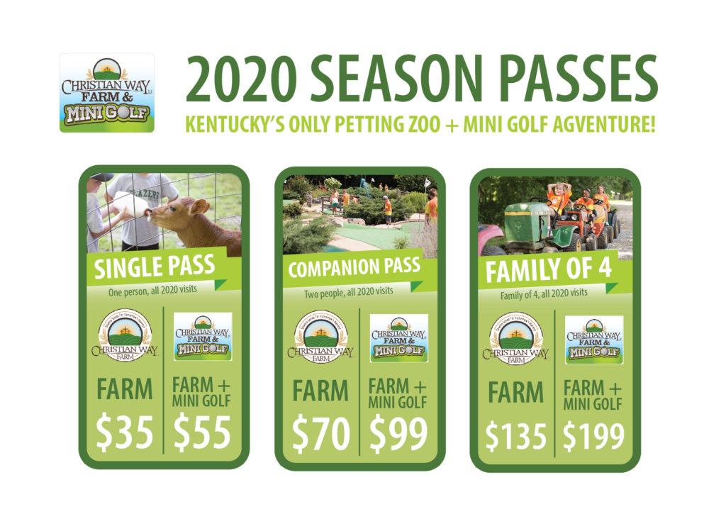 Christian Way Farm 2020 Season Pass