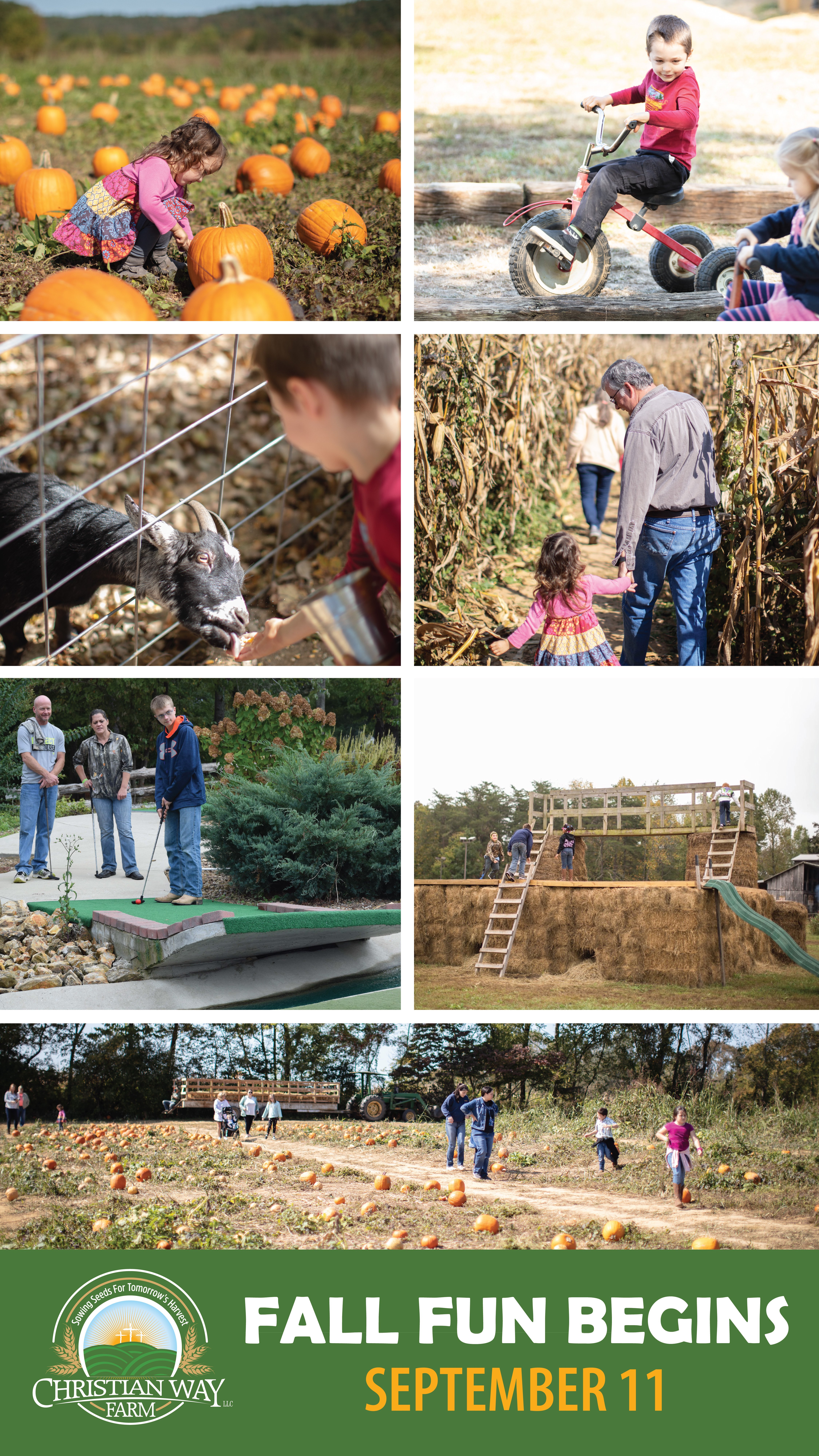 Christian Way Farm Pumpkin Patch and Fall Activities for Kids